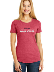 Crossfit MOVES Antwerpen Tri-blend T-shirt Ladies