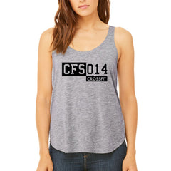 Crossfit Schoten - Flowy Slide Slit Tank - Quote