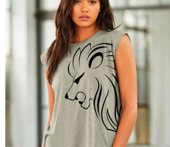 Lioness Muscle Tee Rolled Cuff