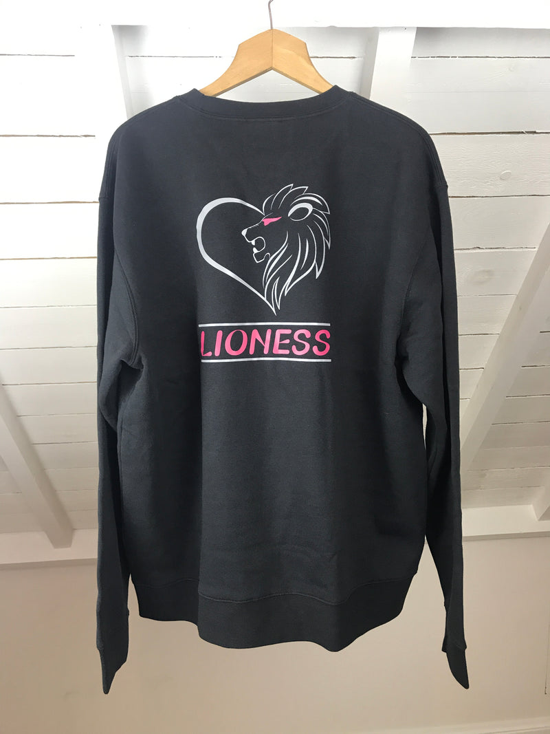 Lioness Sweatshirt Black & Pink OUTLET