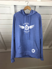 Crossfit Mechelen Blue Marl Lightweight Hoodie - OUTLET
