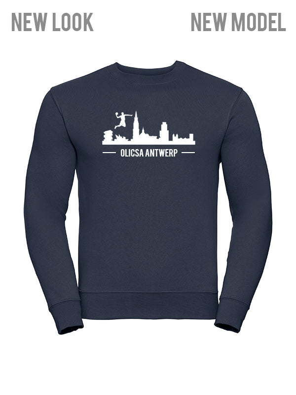 Olicsa - Sweatshirt Navy - Antwerp Skyline