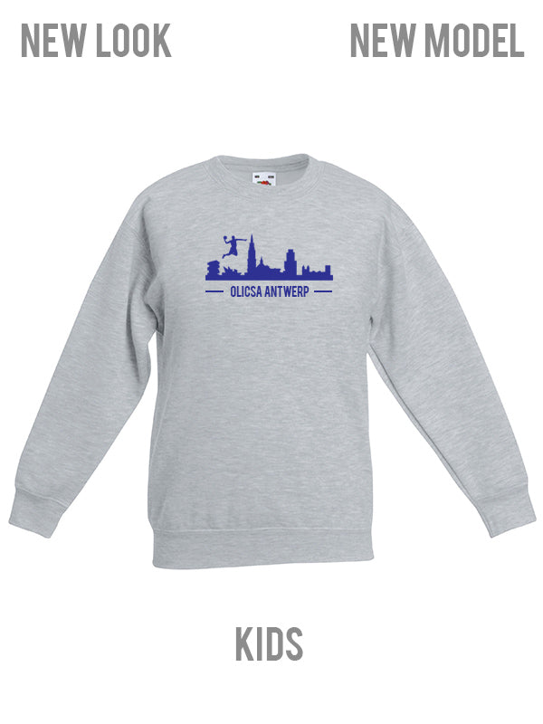 Olicsa SWEATER Grijs KIDS - Antwerp Skyline