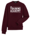 The Training Academy Sweatshirt Burgundy