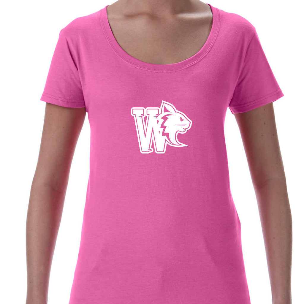 WildCats - Logo Ladies Deep Scoop T-shirt