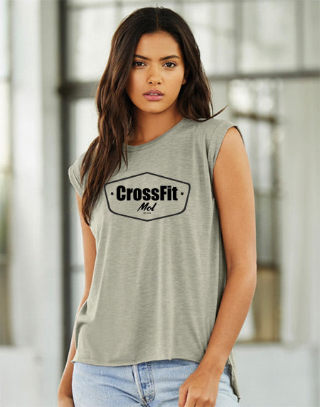 Crossfit Mol Women's muscle tee - rolled cuff