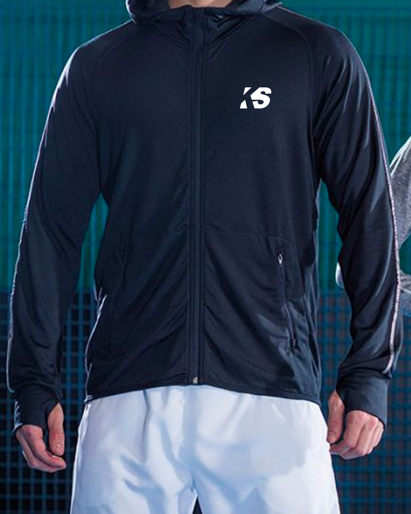 KickOff Sports - Lightweight running hoodie with reflective tape