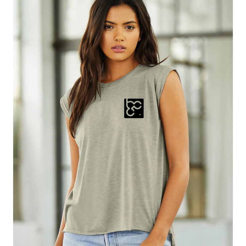 Bootcamp Coach Women's muscle tee - rolled cuff