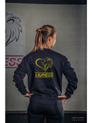 Lioness Sweatshirt Black & Gold - BANGING BODY