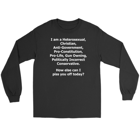 Politically Incorrect Conservative Shirt