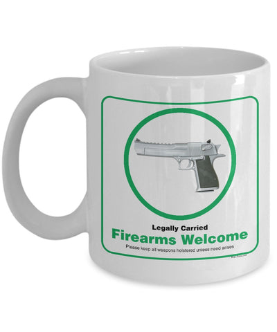 Firearms Welcome Mug