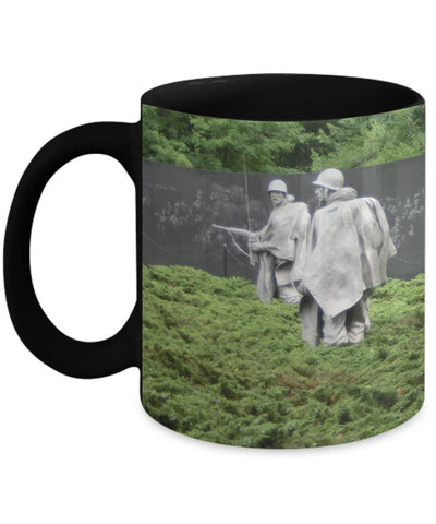 Korean War Memorial Soldiers Wall Mug