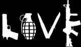 LOVE Guns Grenade Sticker