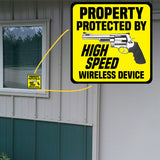 Property Protected By High Speed Wireless Device Sticker