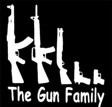Gun Family Sticker
