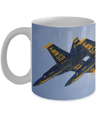 Blue Angels Echelon Formation Underside View Full Wrap Mug