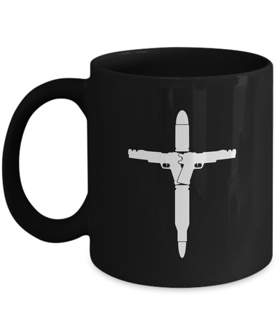 Guns Bullets Cross Mug