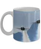 Blue Angels Approach Smoke On Full Wrap Mug