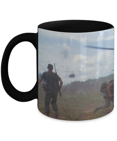 Tribute To Hueys In Vietnam Full Wrap Mug