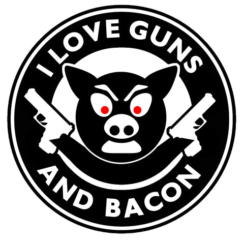 I Love Guns and Bacon Sticker