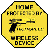 Home Protected By High Speed Wireless Device Sticker
