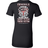 Teach Criminals To Fear Shirt (Style 2)