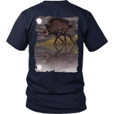 Wild Boar In The Moonlight - Hogs & Hunters T-Shirt