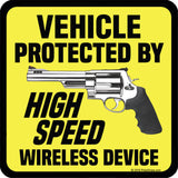 Vehicle Protected By High Speed Wireless Device Sticker