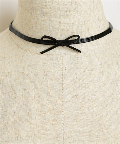 Bow Shaped Choker Necklace