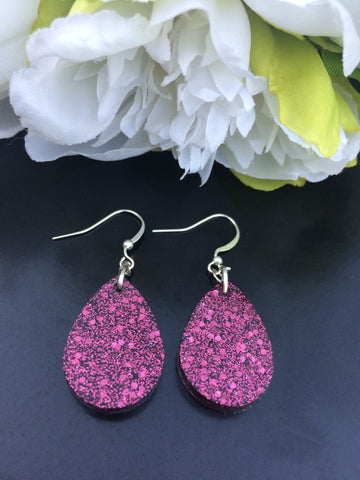 Tear Drop Earrings - Rustic Pink