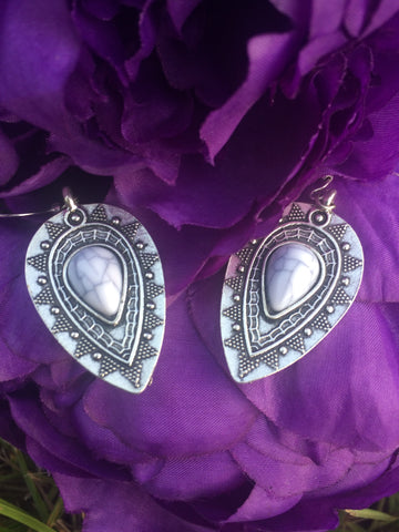 Tear Drop Charm Earrings