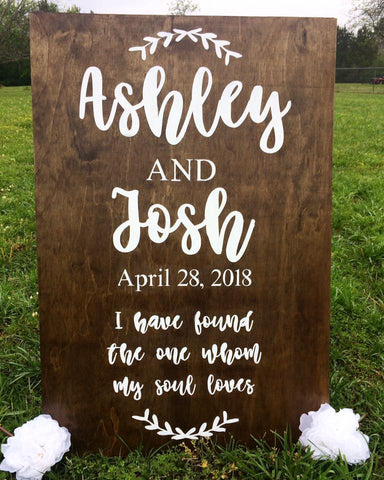 Wooden Sign - Personalized (Large)