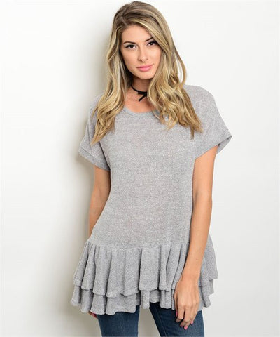 Casual Grey Top - Stellar Styles Clothing