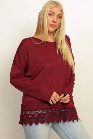 Crochet Hem Top - Stellar Styles Clothing