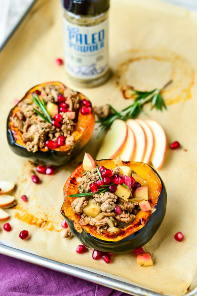 Apple & Balsamic Turkey Stuffed Acorn Squash