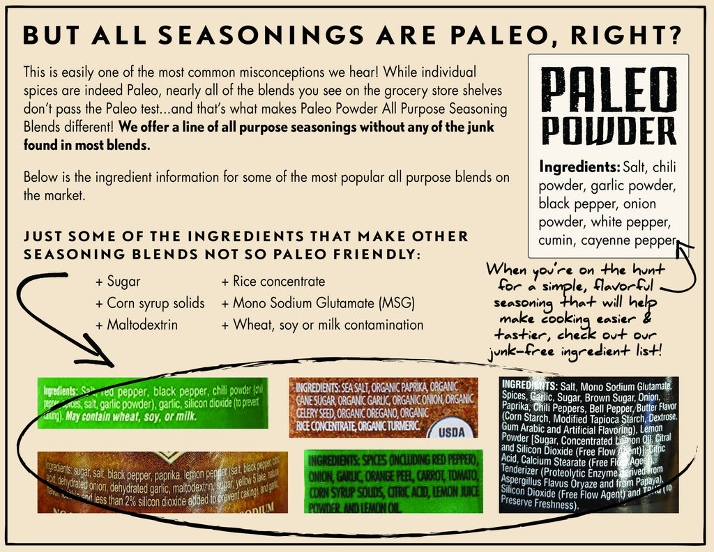 But All Seasonings are Paleo, Right?