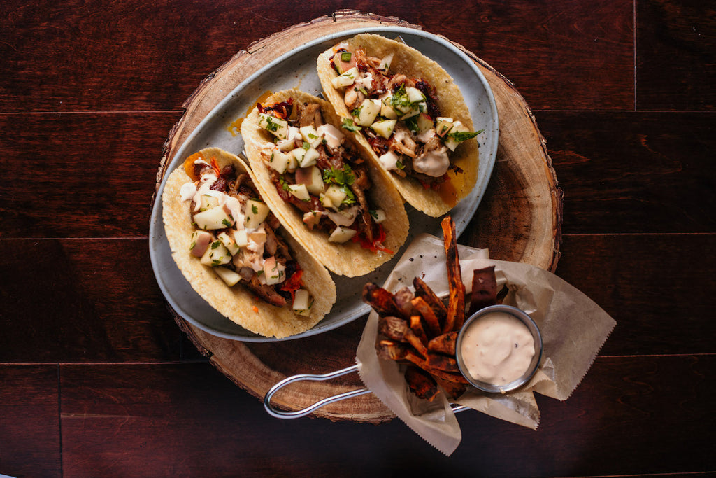 Low FODMAP-FRIENDLY Paleo BBQ Chicken Tacos & Fries