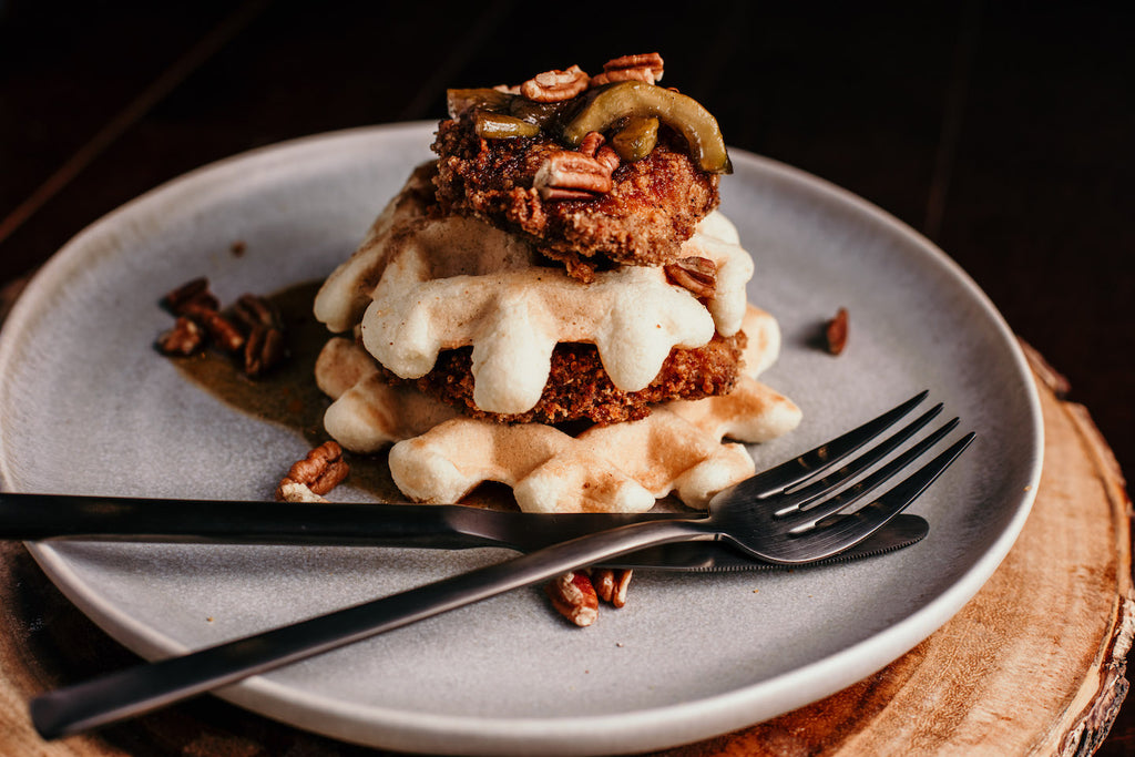 Keto-Friendly Paleo Chicken & Waffles with Zapples