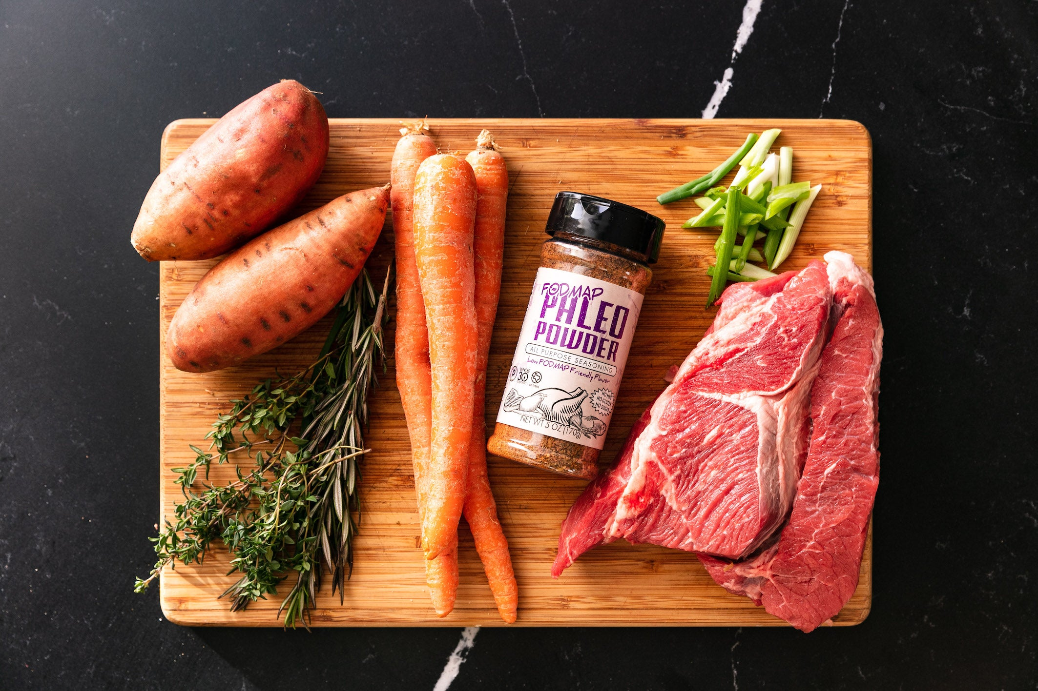 Low FODMAP-Friendly Paleo Pot Roast & Vegetables Ingredients