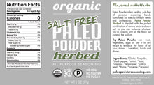 Load image into Gallery viewer, Organic Paleo Powder Herbed Salt Free All Purpose Seasoning