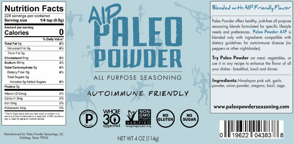 Paleo Powder All Purpose Seasoning Lifestyle Four Pack