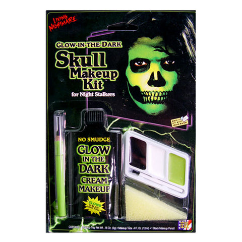 Glow In The Dark Skull Makeup Kit