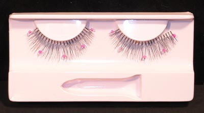 Eyelashes: Ultra Light Black & Beads w/ Adhesive
