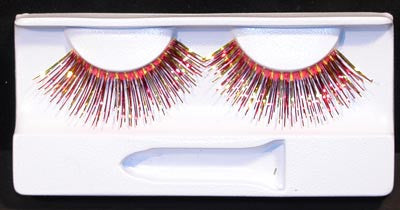 Eyelashes: Red & Gold Foil with Adhesive