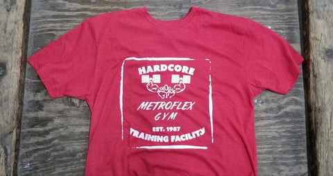 Metroflex Gym Hardcore Training Facility T-shirt | Red | Metroflex Gym