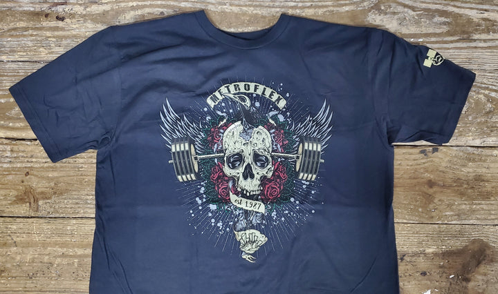 """The path of success is paved with the skulls of the weak."" Metroflex Gym T-Shirt"