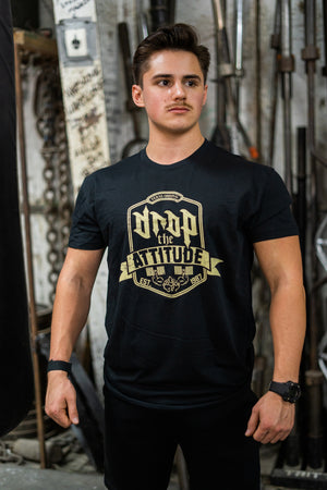"""Drop the Attitude"" Black T-shirt 