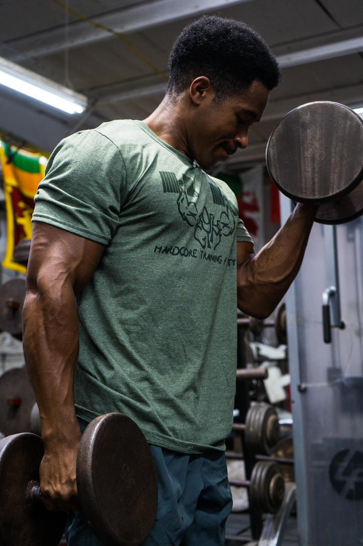 Metroflex Gym Hardcore Training Facility T-shirt | Military Green | Metroflex Gym