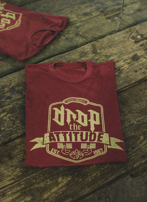 """Drop the Attitude"" Cardinal Red T-shirt 