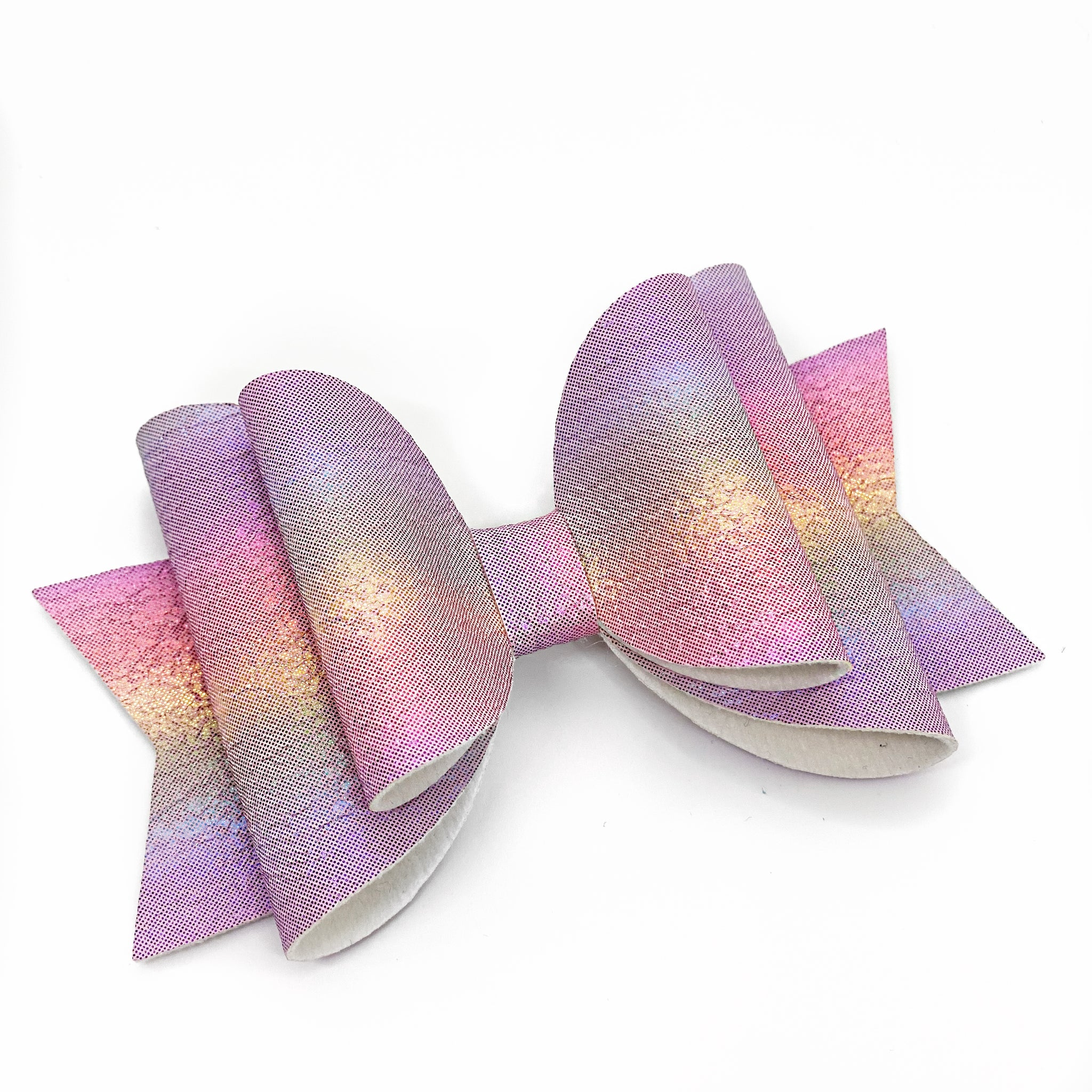 "Pastel Rainbow Glam Bow (4.5"")"